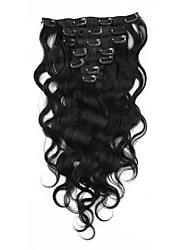 Body Wave Clip in Human Hair Extensions Malaysian Virgin Remy Hair Weaves Clip Ins
