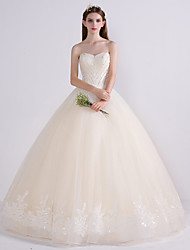 Princess Wedding Dress Floor-length Sweetheart Lace Tulle with