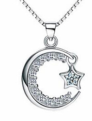 Women's Pendant Necklaces Sterling Silver Jewelry Basic Silver Jewelry Casual 1pc