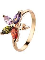 Brand Colorful Zircon Rings For Female Romantic women Jewelry Platinum Plated Engagement Wedding Crown Ring 94473