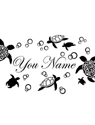 Wall Stickers Wall Decals Style Sea World Cute Turtle PVC Wall Stickers