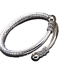 Homme Femme Manchettes Bracelets Argent sterling Personnalisé Argent Bijoux 1pc