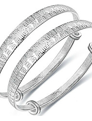 Kid's Bangles Fashion Sterling Silver Jewelry Silver Jewelry For Birthday Gift 1 pair