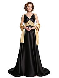 2017 Lanting bride® uma linha mãe do vestido de noiva - brilho& brilhar duas peças andar de comprimento mangas de cetim