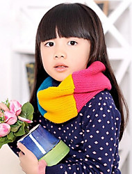 Girl's Knitting Winter Going out/Casual/Daily Warmth Rainbow Four-color Neckerchief Children Scarf Neck Gaiter