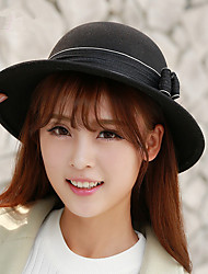 Autumn And Winter New Ultra - US Double Bow Knot It Pots Cap Hat Small Bow Hat Wool Felt