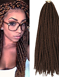 Box Braids Twist Braids Brown With Auburn Hair Braids 24Inch Kanekalon 90g Synthetic Hair Extensions