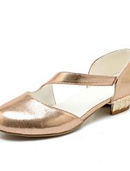 Damen-High Heels-Lässig-PU-BlockabsatzGold Silber