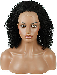 Heat Resistant Synthetic Lace Front Wig kinky Curly Hair Black Color Synthetic Hair Fiber Wig