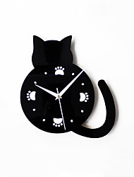 Modern Creative Lovely Cat Footprints Mute Wall Clock