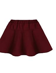 Damen Röcke,Stifte einfarbigLässig/Alltäglich Einfach Mittlere Hüfthöhe Mini Elastizität Baumwolle Micro-elastisch Herbst