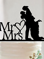 Couples acrylic wedding cake inserted card Elegant cake decoration birthday cake inserted card