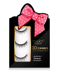 3D Quantity Eyelashes lash Full Strip Lashes Eyes Crisscross Natural Long Volumized Handmade Fiber Transparent Band