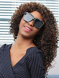 Medium Fluffy Afro Curly Full Bang Synthetic Wig