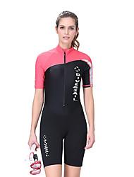 Dive & Sail® Damen 1.5mm Dive Skins Shorty WetsuitsWasserdicht Atmungsaktiv warm halten Rasche Trocknung UV-resistant tragbar