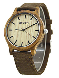 BEWELL Nail Shape Scale Japan Quartz Movement Canvas Strap fashion casual Men Watch