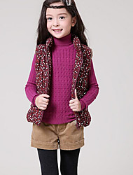 Girl Casual/Daily Print Vest,Cotton Winter Spring Fall