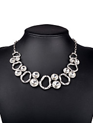 Necklace Choker Necklaces Jewelry Birthday Party Daily Casual Christmas Gifts Geometric Fashion Hip-Hop Rock Alloy Glass Women 1pc Gift