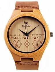 Для пары Модные часы Кварцевый деревянный Дерево Группа Повседневная Коричневый марка