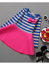Girl's Casual/Daily Striped Dress,Rayon Spring Fall Long Sleeve