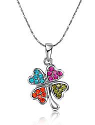 Women's Pendant Necklaces AAA Cubic Zirconia Zircon Platinum Plated Alloy JewelryRhinestone Fashion Punk Adjustable Adorable Personalized