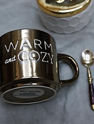 Novelty Drinkware, 400 ml BPA Free Bone China Textile Coffee Milk Coffee Mug Travel Mugs