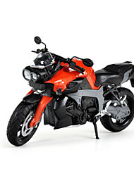 Motorcycle Pull Back Vehicles 1:10 Metal Orange