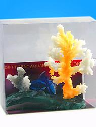 Aquário Decoração Coral Noctilucente Resina Cores Aleatórias