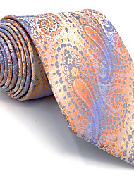 B4 Men's Necktie Tie Multicolor Paisley 100% Silk Business Fashion Wedding For Men
