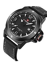 Men's Women's Unisex Sport Watch Dress Watch Fashion Watch Wrist watch Quartz Calendar Genuine Leather Band Charm Casual Multi-Colored