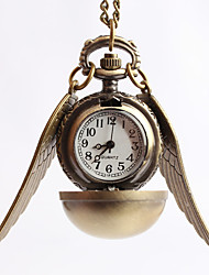 Unissex Relógio Elegante Colar com Relógio Quartzo Lega Banda Vintage Dourada Gloden