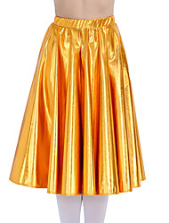Jazz Character Long Skirts Women's Children's Performance Metallic 1 Piece Skirt