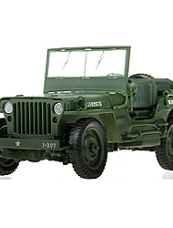 Military Vehicles Toys 1:18 Metal ABS Plastic Green