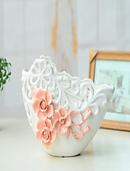 Floral/Botanicals Ceramic Modern/Contemporary Indoor Decorative Accessories