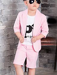 Boy's Formal Solid Suit & Blazer / Clothing Set,Cotton Summer Blue / Pink / Beige