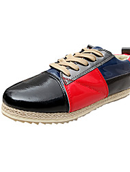 Men's Flats Spring Fall Other Tulle Casual Flat Heel Lace-up Blue Yellow Gray Green/Blue Other