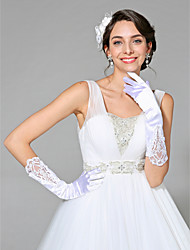 Handgelenk-Länge Fingerspitzen Handschuh Satin Brauthandschuhe