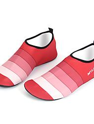 Wassersport Schuhe Kein Werkzeug erforderlich Schwimmen Tauchen und Schnorcheln Caucho Lycra silbrig Rot