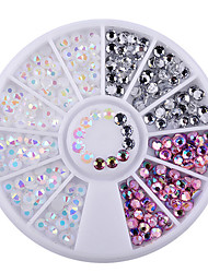 1 Box Colorful Resin Nail Rhinestones Jelly Nail Art Studs 3D Nail Art Decorations