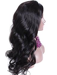 densidade 150% 13 * 6 cabelo humano malaio perucas do laço onda solta frente peruca cor natural 24inch despedida livre