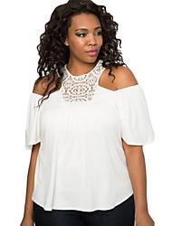 Women's Crochet Cold Shoulder Plus Size Top