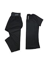 Damen Laufshirt mit Laufhose Langarm Rasche Trocknung Atmungsaktiv T-shirt Kleidungs-Sets für Yoga Übung & Fitness Laufen Modal Polyester
