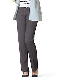 женская Vintage / работа / Большие размеры микро-упругой среде прямые брюки (спандекс / полиэстер / вискоза)
