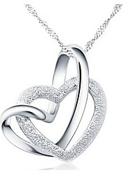 Women's Pendant Necklaces Heart Alloy Love Heart Silver Jewelry For Party Anniversary Birthday Thank You Daily Valentine 1pc