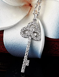 Pendants Sterling Silver Zircon Cubic Zirconia Basic Fashion Silver Jewelry Daily Casual 1pc