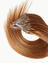 Brazilian Remy Hair Straight Micro Loop Human Hair Extensions Indian Indian No Tangle Micro Ring Hair
