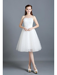Trumpet / Mermaid Wedding Dress Court Train Sweetheart Lace / Organza / Satin with Beading / Lace