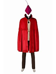 Costumes de Cosplay Costume de Soirée Bal Masqué Pour Halloween Superhéros Prince Cosplay Cosplay de Film Rouge Couleur PleineGilet