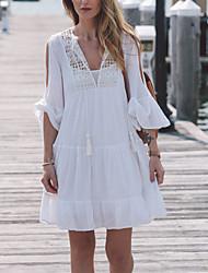 Vêtement couvrant Aux femmes Couleur Pleine Bandeau Coton Organique