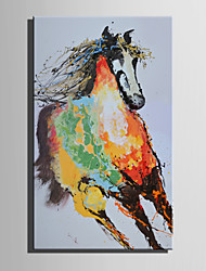 E-HOME Oil painting Modern The Color Of The Running Horse Pure Hand Draw Frameless Decorative Painting